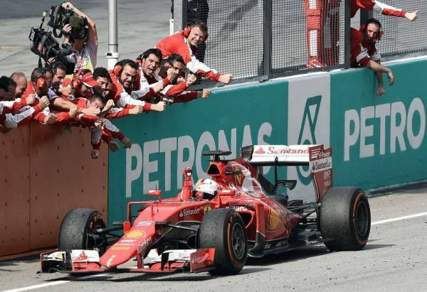 Vettel Ferrari GP Malesia 2015 gara