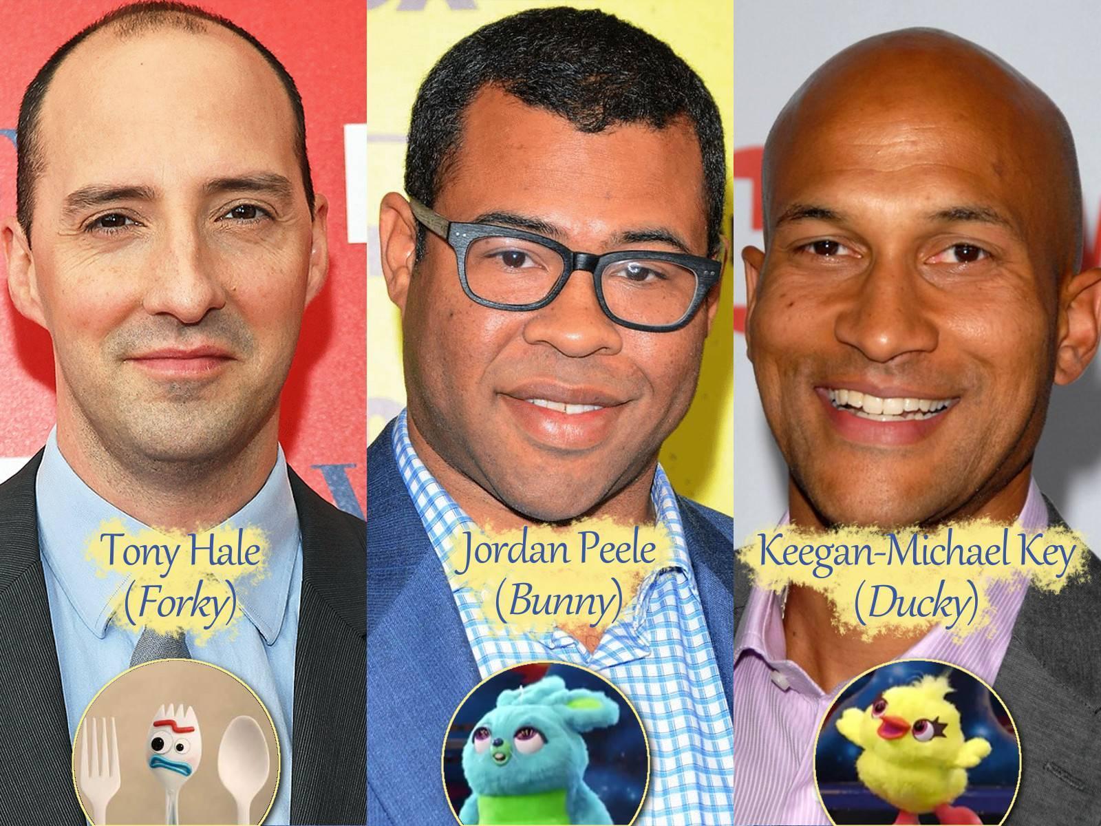 I volti dei doppiatori dei nuovi personaggi di Toy Story 4.