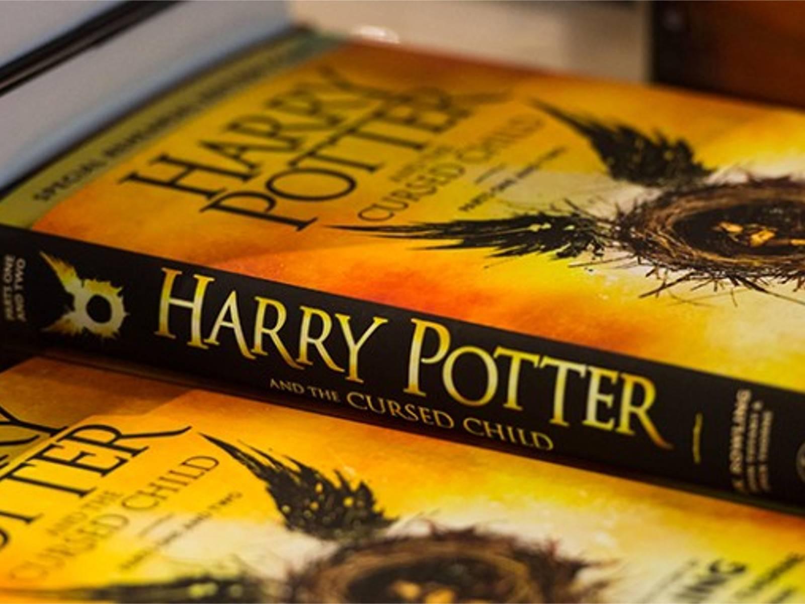 """Il libro di """"Harry Potter e la maledizione dell'erede"""" che vede il mago che ritorna da adulto."""
