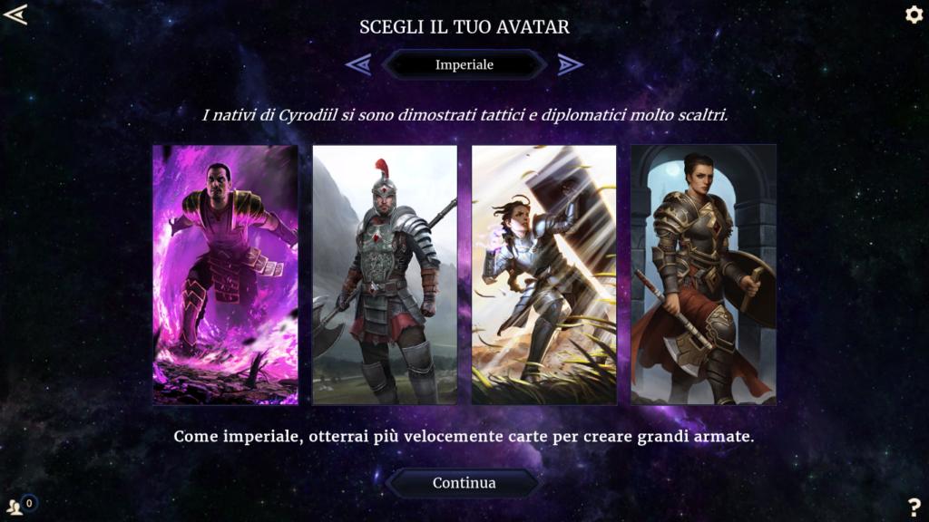 Scelta dell'avatar (imperiale)