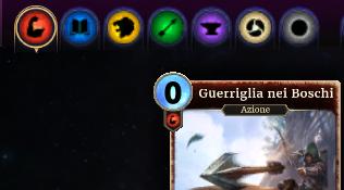 i simboli dei cinque attributi, delle multiattributo e delle neutrali delle carte in TES Legends
