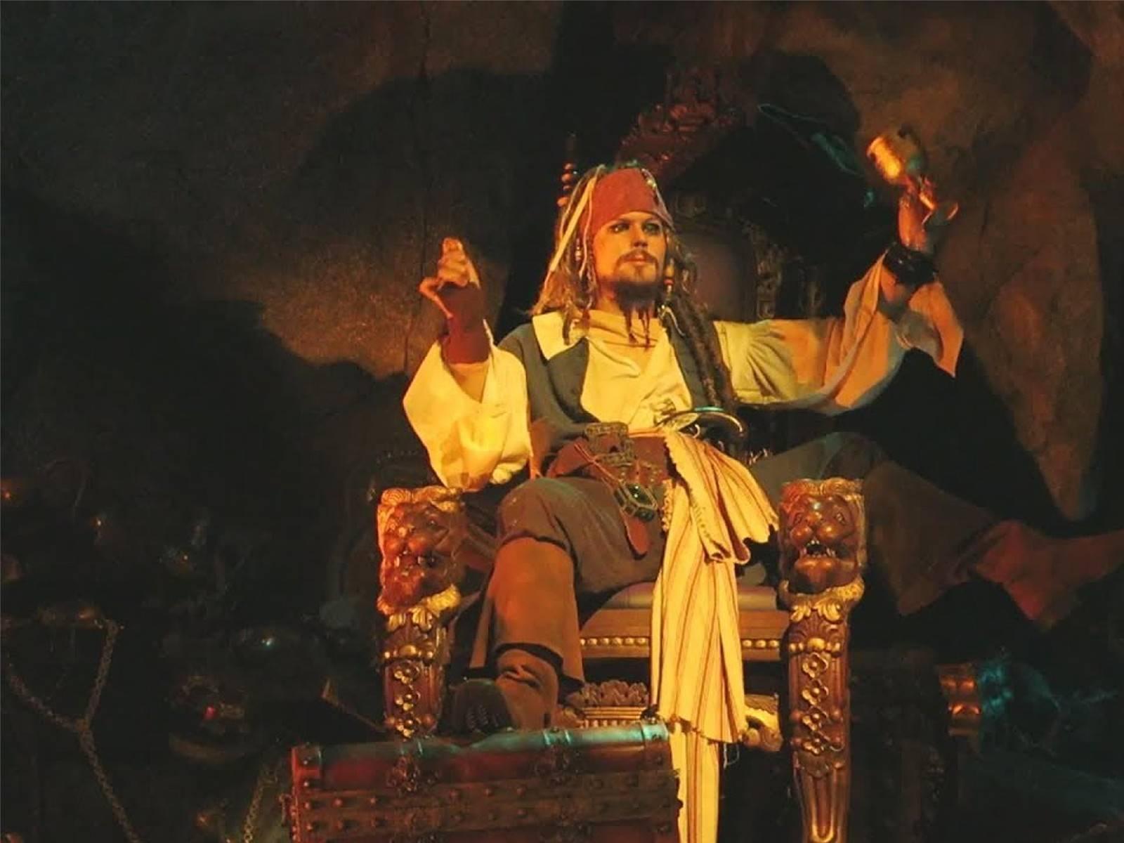 Jack Sparrow animatronic nell'attrazione di Disneyland