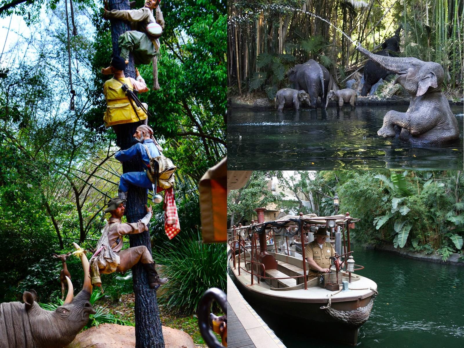 Alcune foto dell'attrazione Jungle cruise