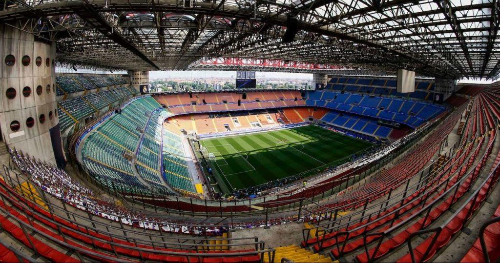 "Lo stadio ""Giuseppe Meazza"" in San Siro"