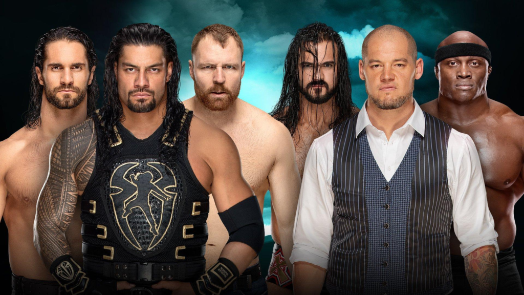 The Shield vs. McIntyre, Bobby Lashley e Baron Corbin