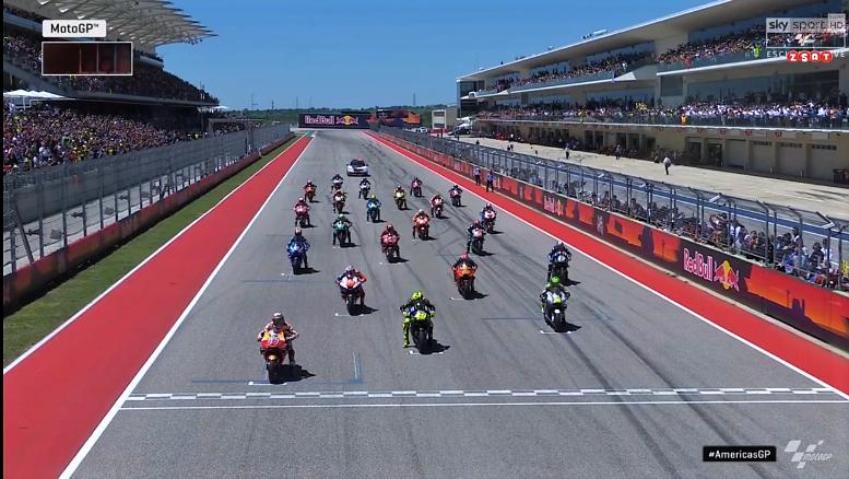 Gara MotoGP Austin 2019 - La partenza