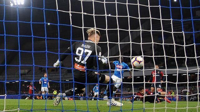 Radu, il man of the match del Genoa contro il Napoli. Fonte: Eurosport