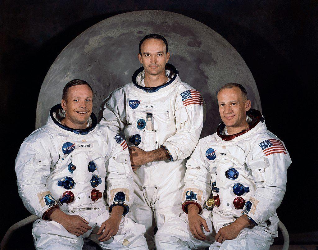 L'equipaggio dell' Apollo 11. DA sinistra: Neil Armstrong, Michael Collins, Buzz Aldrin. (immagine dal web) MMI Today|La giornata dell'asciugamano