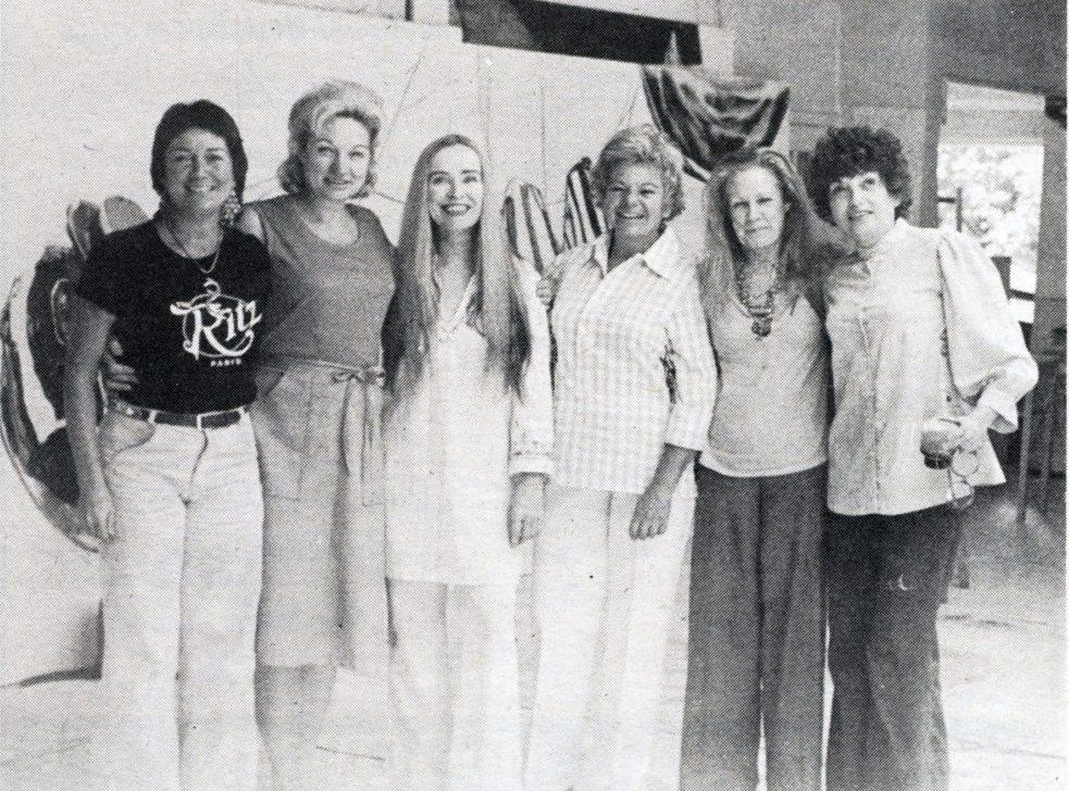 Alcune artiste della Cappella. Da sinistra: Ilise Greenstein, June Blum, Betty Holliday, Elsa M. Goldsmith, Sylvia Sleigh e Shirley Gorelick, MoMa PS1, NY, 1978. (immagine dal web)