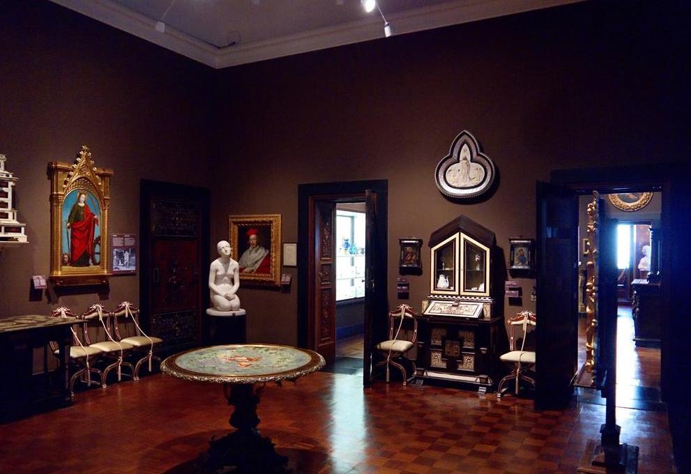 Allestimento attuale della Sala nera del Museo Poldi Pezzoli, Milano. (foto dal web) Poldi Pezzoli: un romantico a Milano