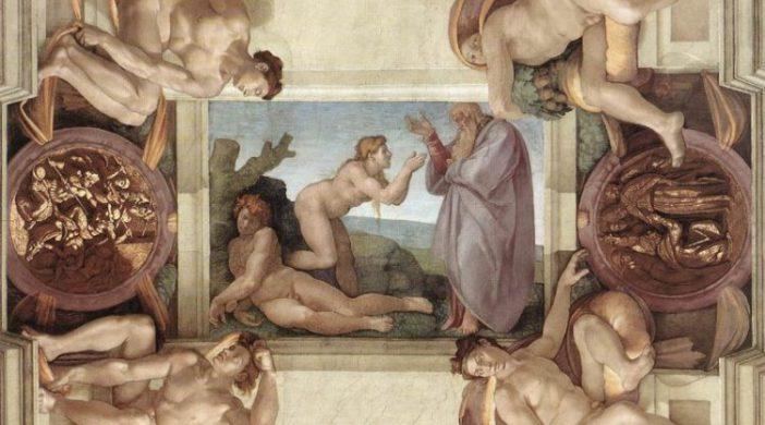 Michelangelo Buonarroti, La Creazione di Eva, 1508 - 1512 circa, Affresco, volta della Cappella Sistina, Musei Vaticani, Città del Vaticano. (immagine dal web)