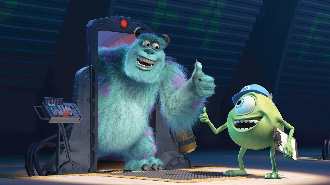 """Una scena di """"Monsters e Co""""."""