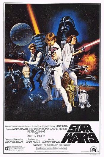 Locandina del film: Star wars: Episode IV - A New Hope (immagine dal web). MMI Today|La giornata dell'asciugamano