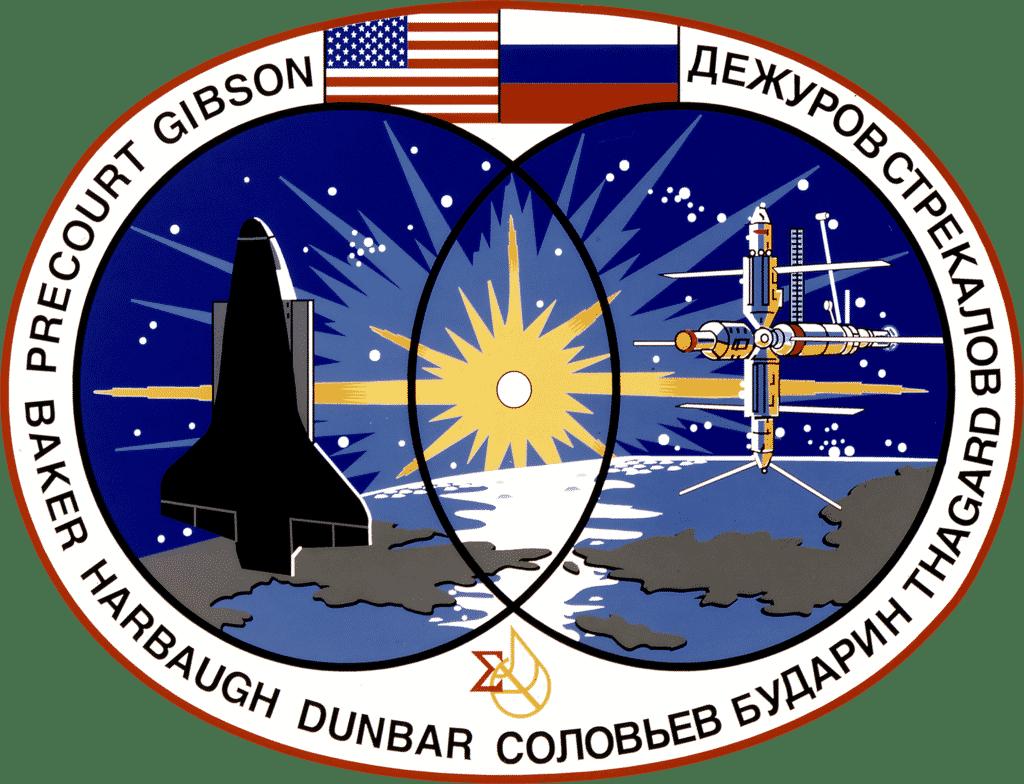 Emblema della missione Atlantis (immagine dal web) MMI Today 29 gennaio: dal lancio dello shuttle alla messa in vendita del primo iPhone.