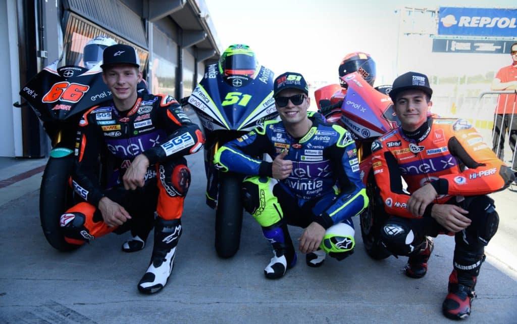 MotoE Recap test Valencia podio
