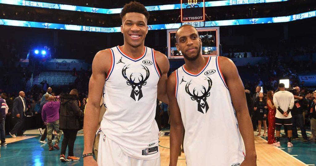 Antetokounmpo e Middleton durante l'ultimo All-Star Game, il primo per l'ex Pistons