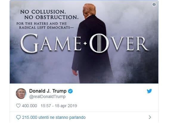 Propaganda politica di Donald Trump ispirata a Game of Thrones. Un esempio di strumentalizzazione politica del fantasy