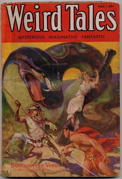 Copertina del numero 26 di Weird Tales, numero in cui comparirà Conan il Barbaro di Robert E. Howard