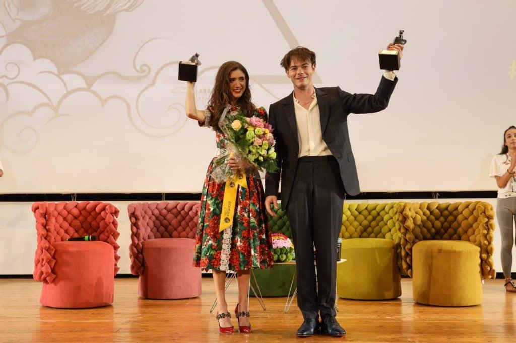 I due attori al Giffoni film festival