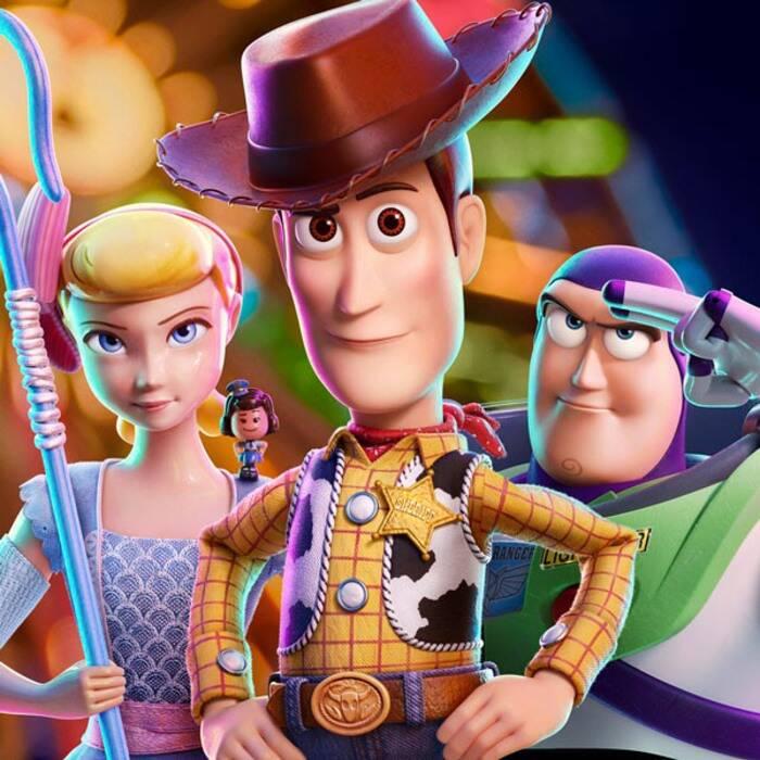Foto di personaggi di Toy Story.