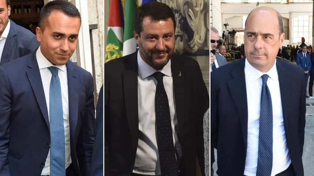Di Maio, Salvini e Zingaretti (The Social Post)