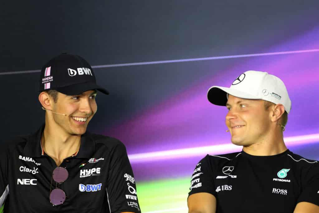 Esteban Ocon e Valtteri Bottas