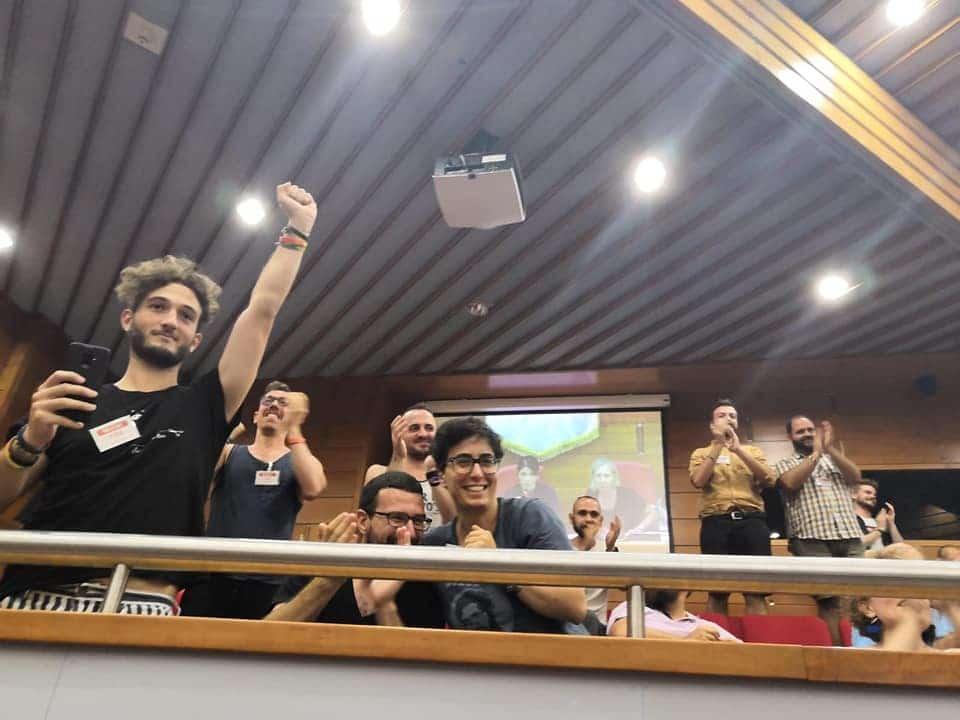 Emanuele Follenti. Attivista del Cassero per la legge contro l'omotransfobia