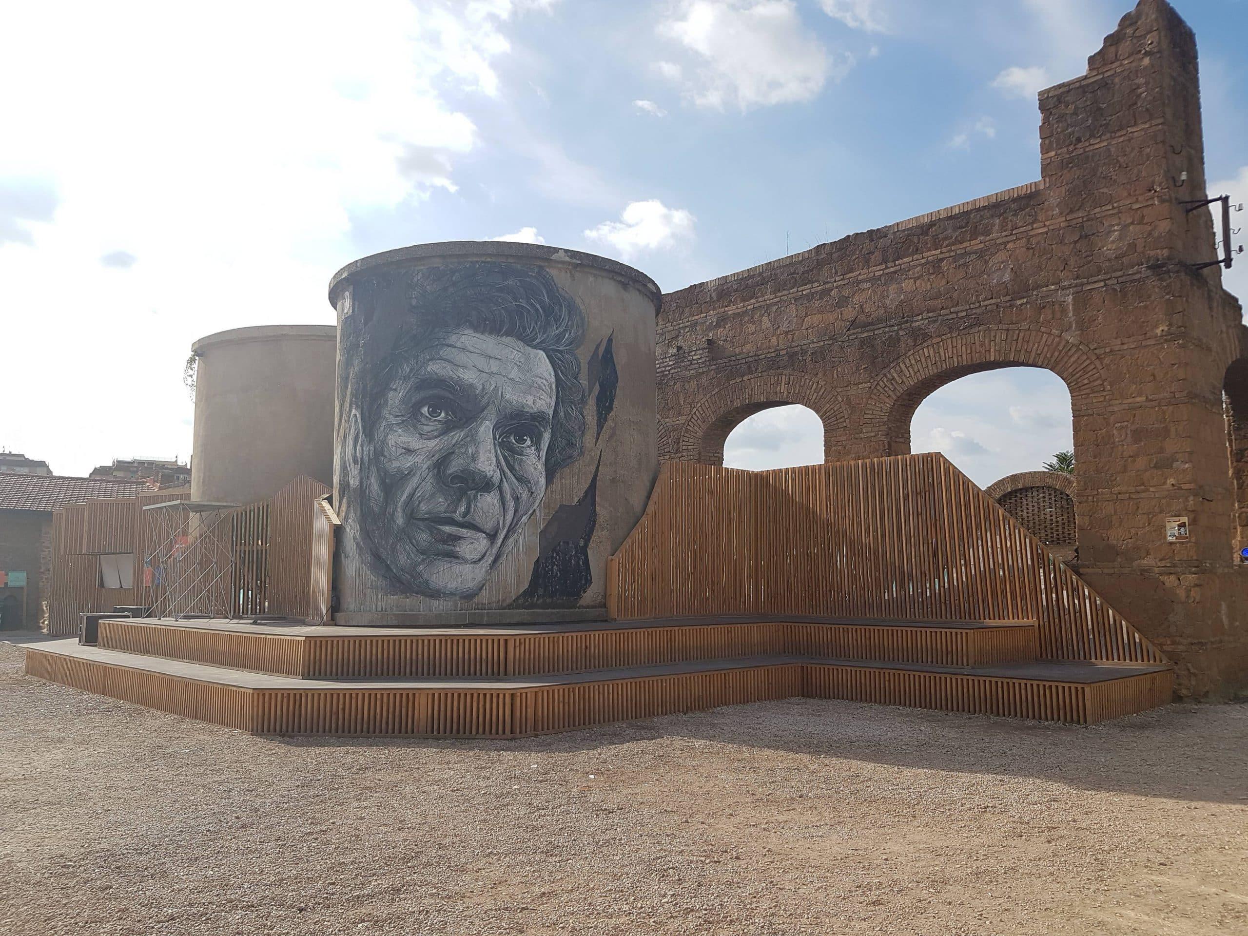 Murales dedicato a Pier Paolo Pasolini, Teatro India