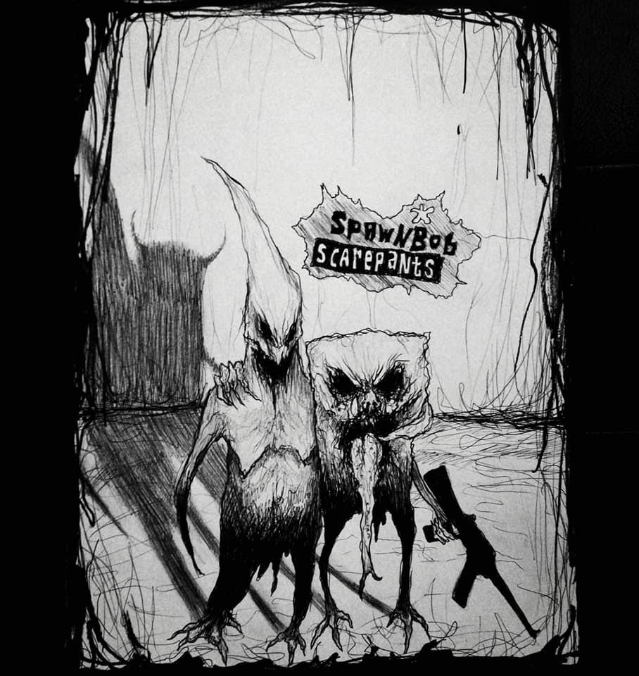 Dark Spongebob - Maxime Taccardi - Cartoni animati horror
