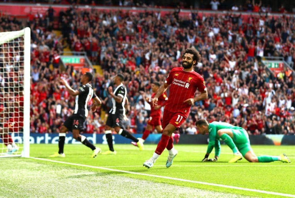 Il sorriso di Salah dopo il gol che ha chiuso il atch