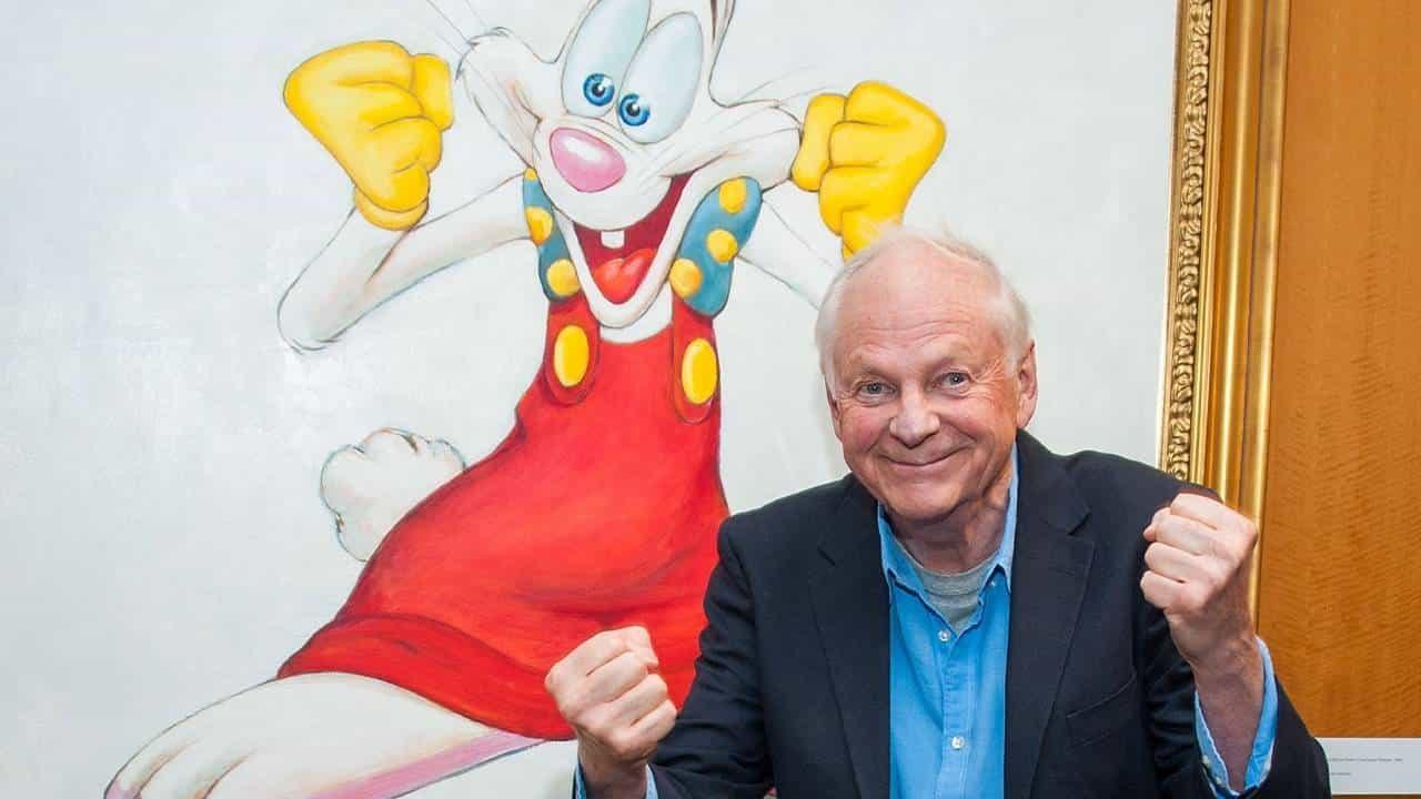 Richard Williams e un grosso disegno di Roger Rabbit.