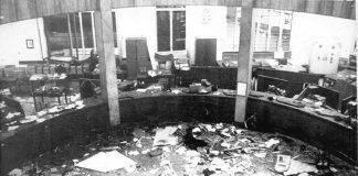 Piazza Fontana: gli interni della Banca Nazionale dell'Agricoltura dopo lo scoppio della bomba