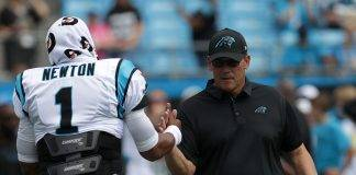 Ron Rivera Cam Newton Streeter Lecka/Getty Images