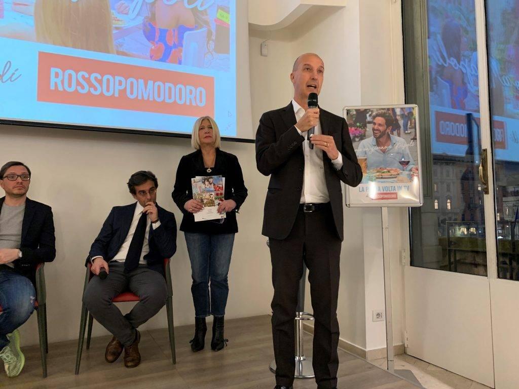 La pizza di Rossopomodoro per la prima volta in TV, conferenza stampa