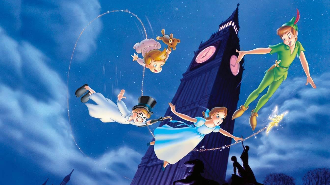 Peter Pan, Wendy, Gianni e Michele volano su Londra.