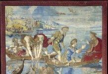 Arazzi Raffaello - pesca miracolosa - Vaticano