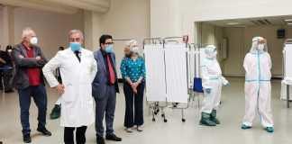 Personale medico a Fiumicino (Canale Dieci)