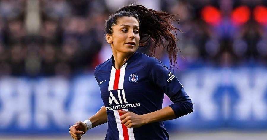 Nadia Nadim, stella della Danimarca, qui con la maglia del Paris Saint-Germain - Photo Credits: lfootball.it