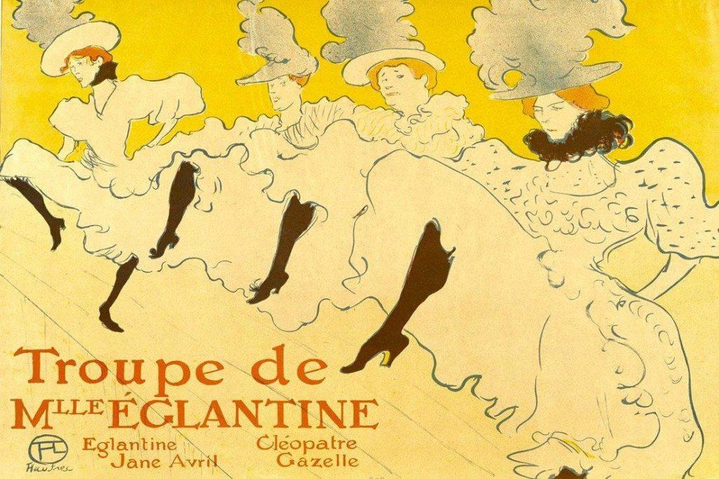 Henri de Toulouse-Lautrec , La Troupe de Mademoiselle Églantine, 1896 - PhotoCredit: © theartpostblog.com