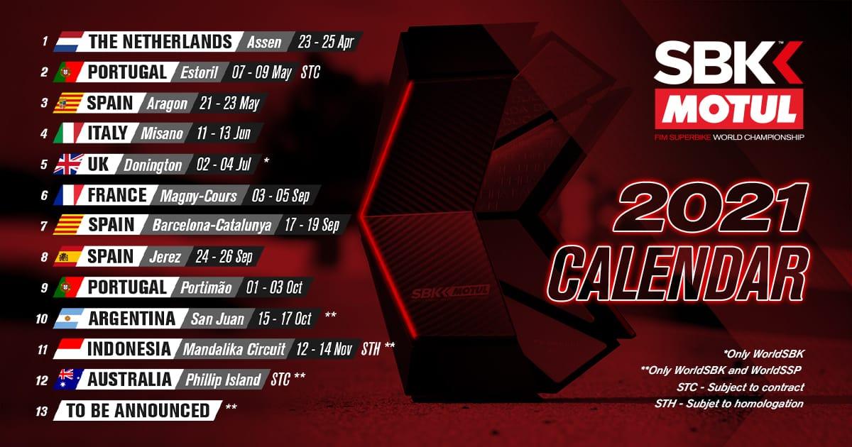 SBK Calendario 2021