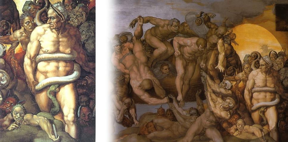 Michelangelo Buonarroti, Dettaglio della Cappella Sistina - Photo Credits: stilearte.it