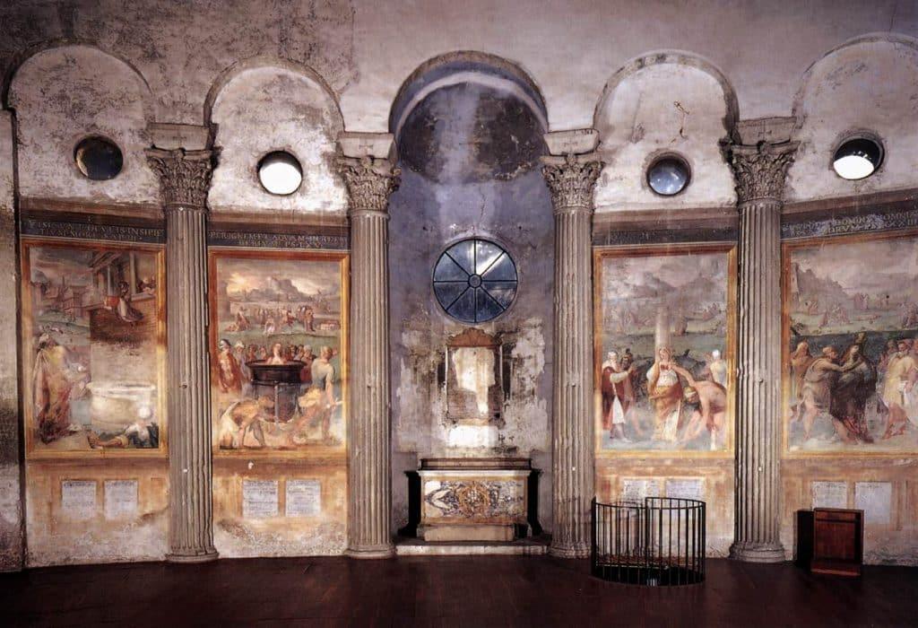 Pomarancio, Il martirologio nella Basilica di Santo Stefano Rotondo