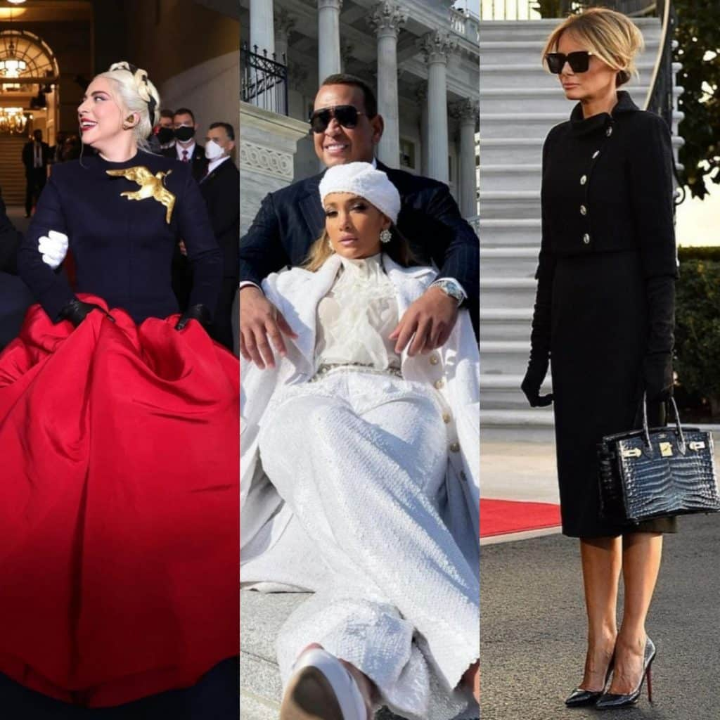 Lady Gaga, Jennifer Lopez e Melania Trump-photo credits: Instagram