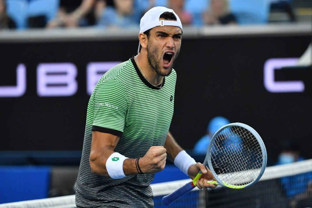 Berrettini Australian Open - Photo Credit: https://twitter.com/SuperTennisTv/status/1359088821565083648/photo/1