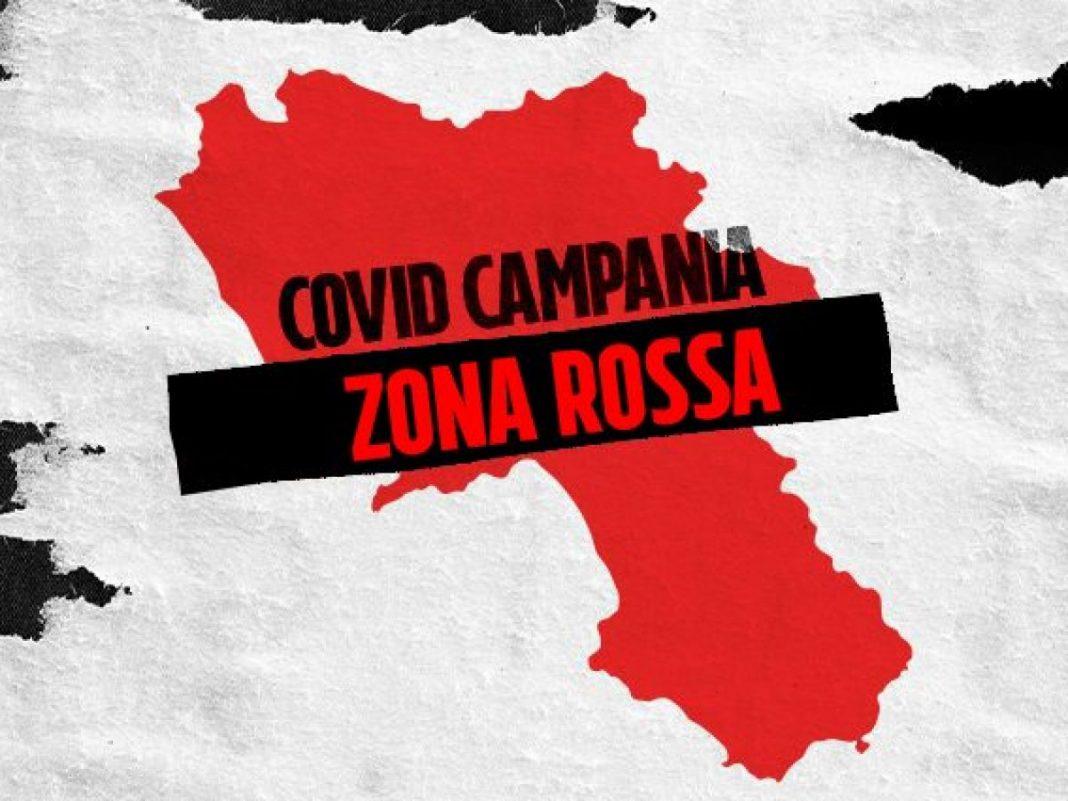 Campania in zona rossa
