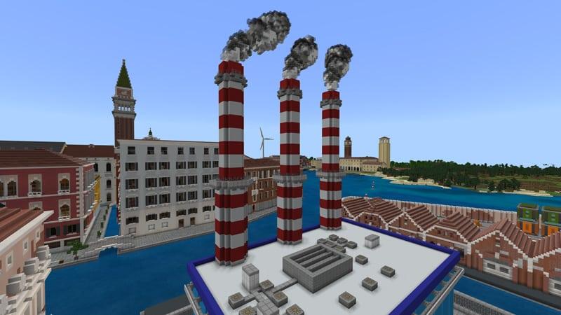 """Minecraft """"Climate Hero"""", per i 1600 anni della città lagunare - Photo credits: Minecraft sito web"""
