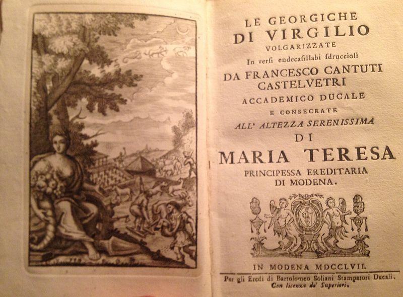 Inno alla Primavera di Virgilio contenuto nelle Georgiche - Photo Credits: wikipedia