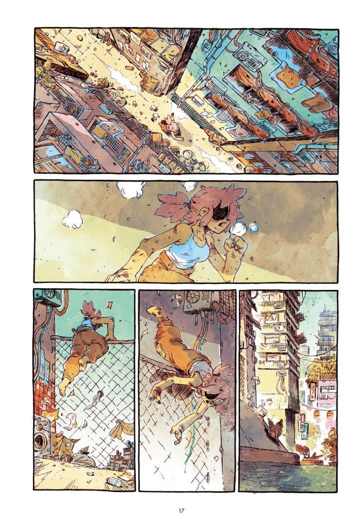 Una pagina del fumetto