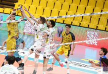 contrasto a muro Modena - Photo Credit: Lega Volley Official Website