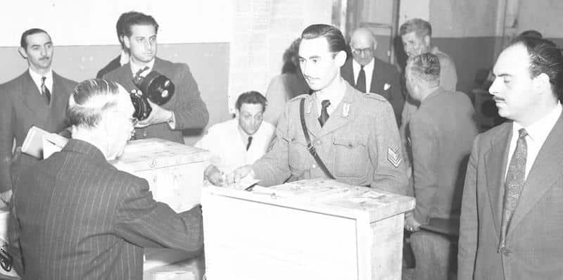 Il 18 Aprile del 1948, le prime elezioni della Repubblica italiana. Photo credits: ilpost.it